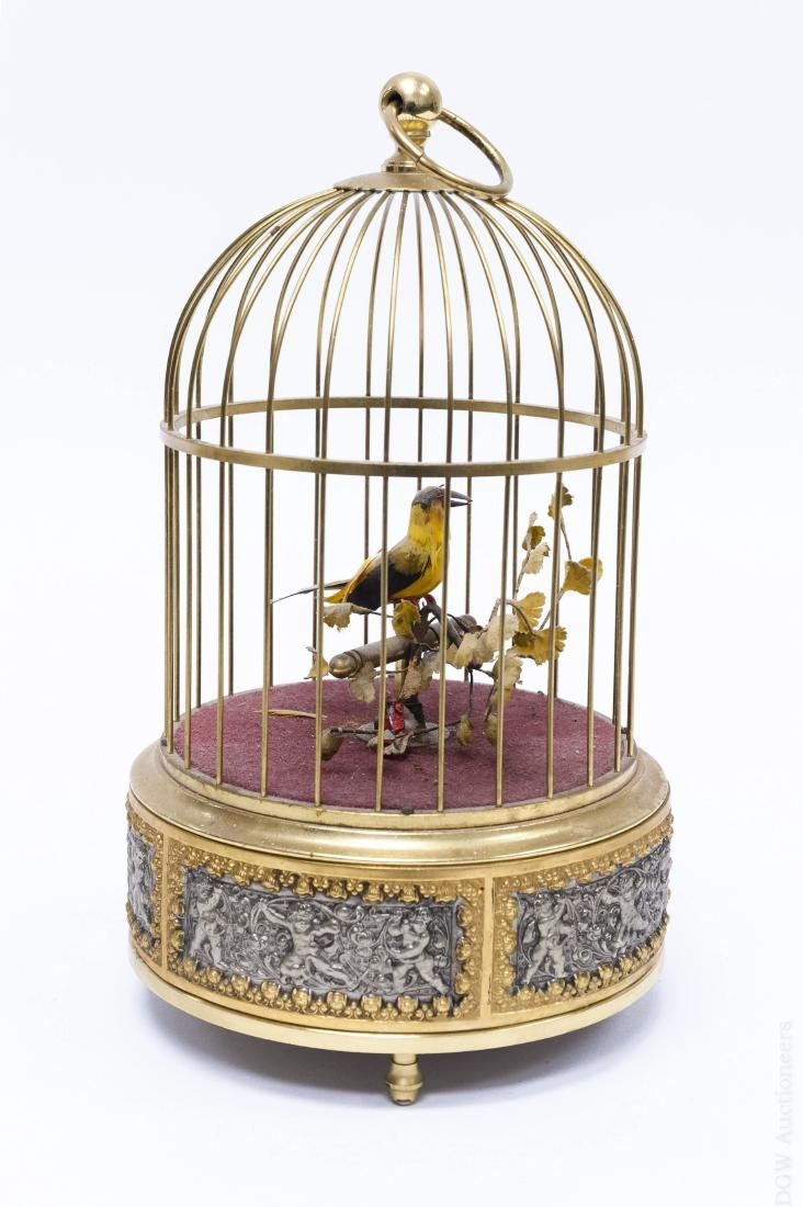 Early 20th C. Bird Cage Music Box.