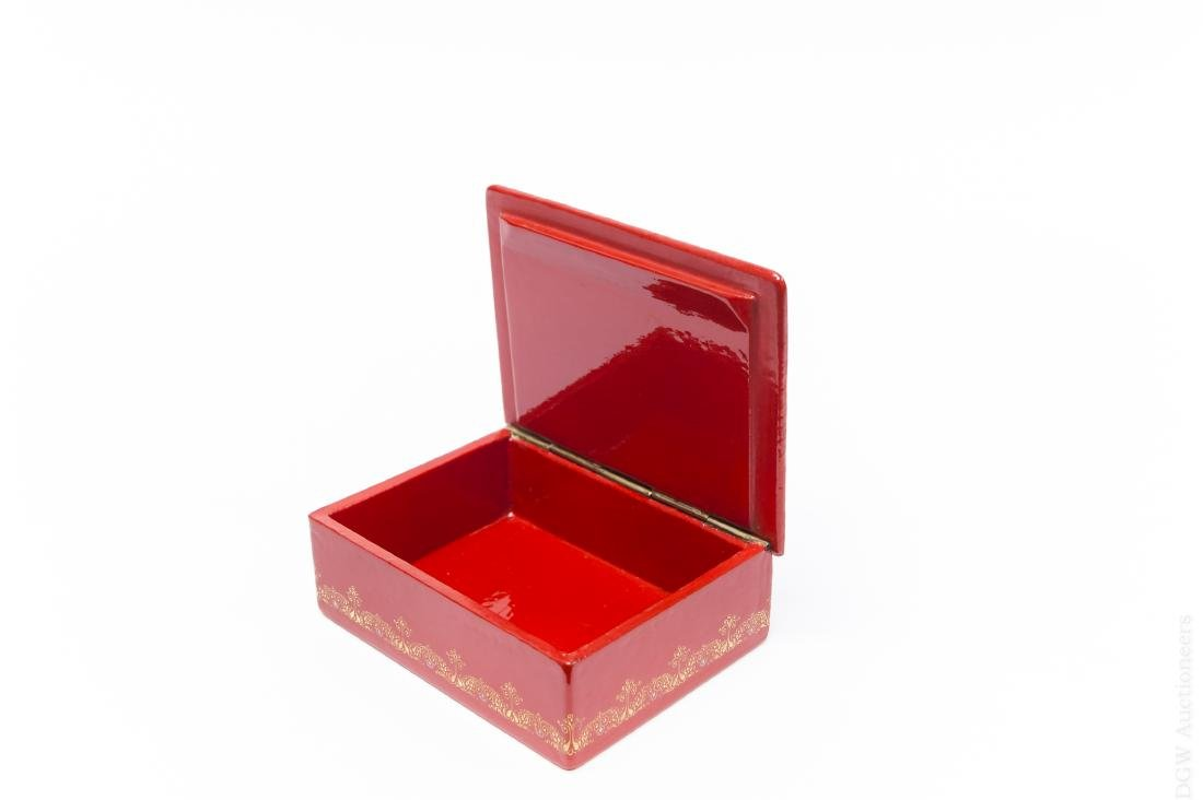 Palekh Russian Lacquer Box. - 2