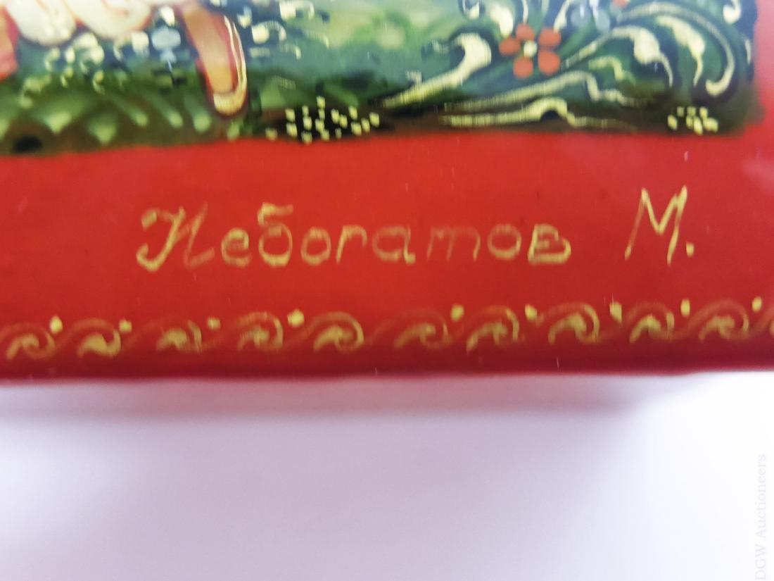 Palekh Russian Lacquer Box. - 5