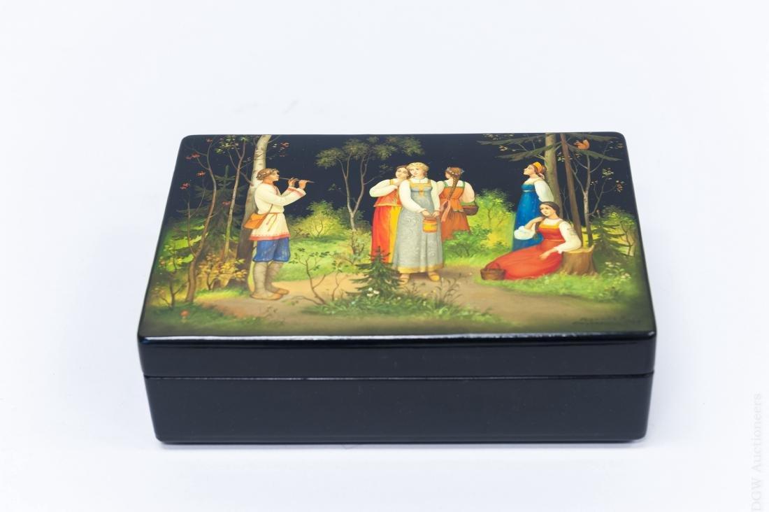 Gudkova Fedoskino Russian Lacquer Box.