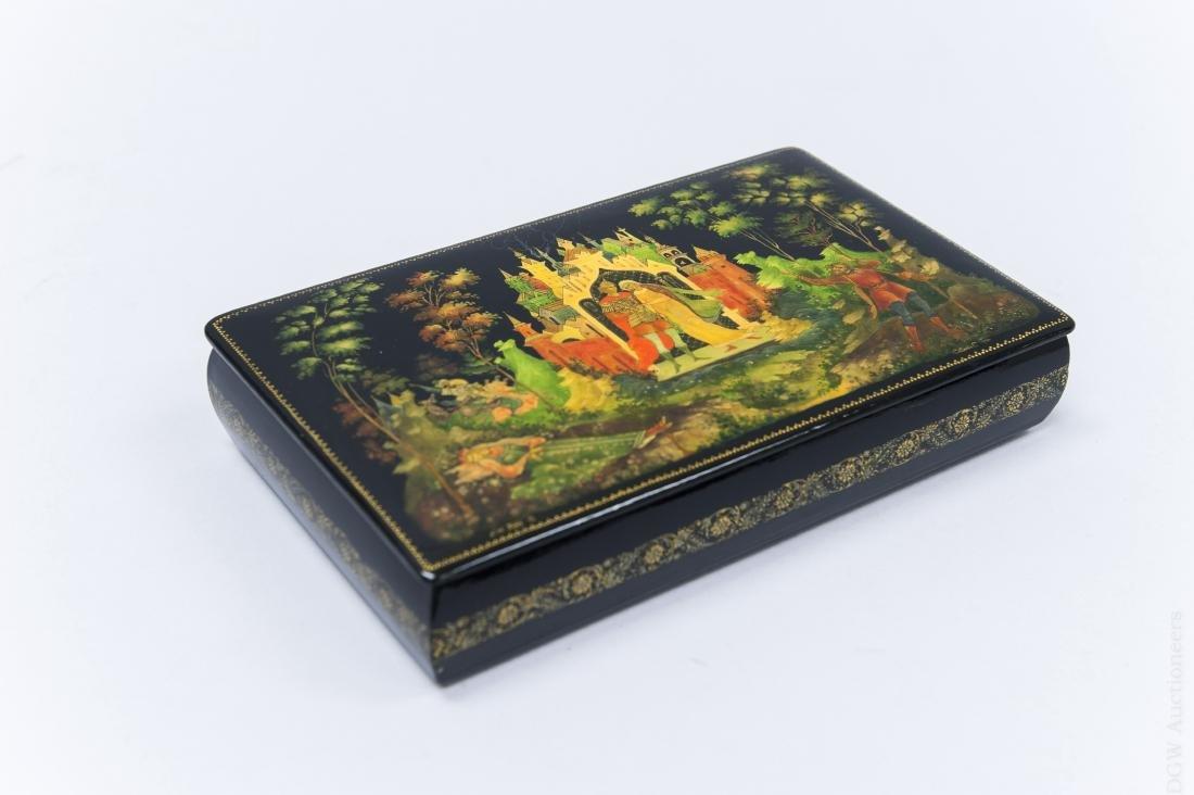 Sivyakova Palekh Russian Lacquer Box.