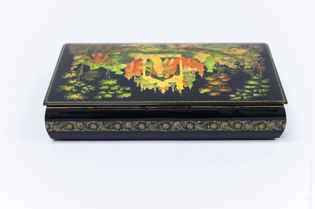 Sivyakova Palekh Russian Lacquer Box. - 3