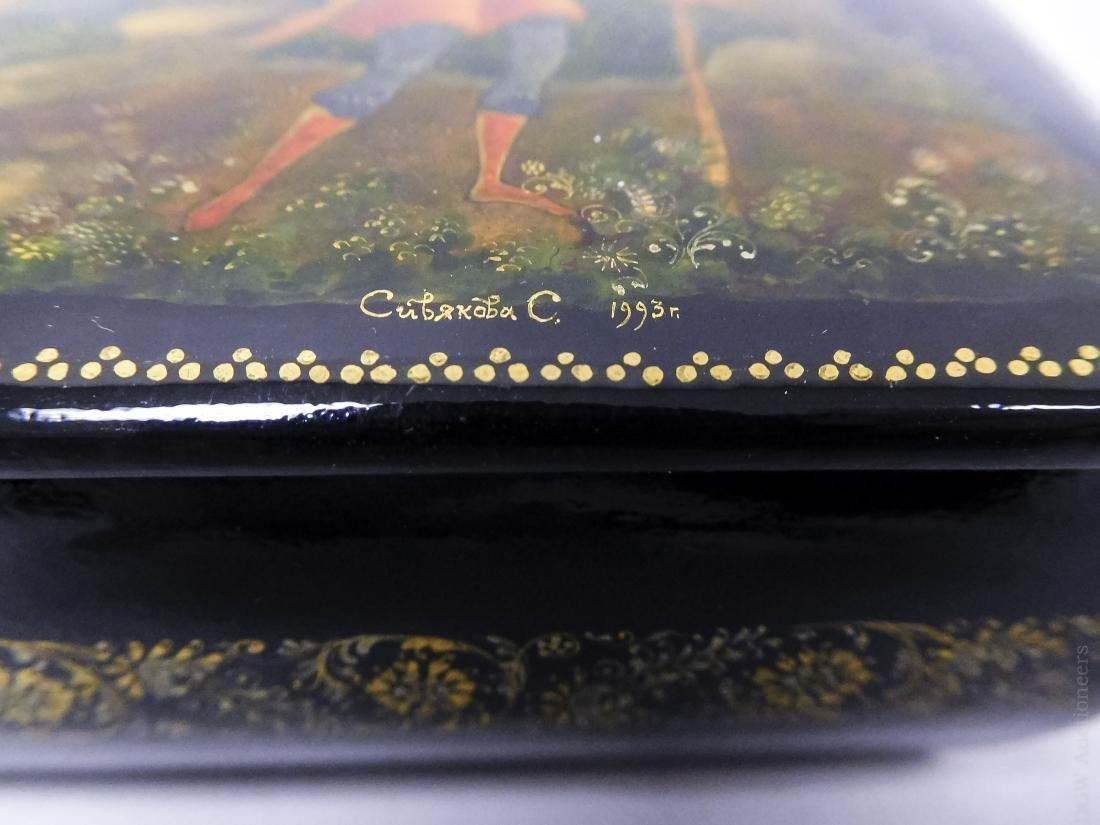 Sivyakova Palekh Russian Lacquer Box. - 6