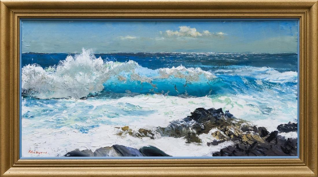 Peter Hayward Oil on Canvas, Seascape.