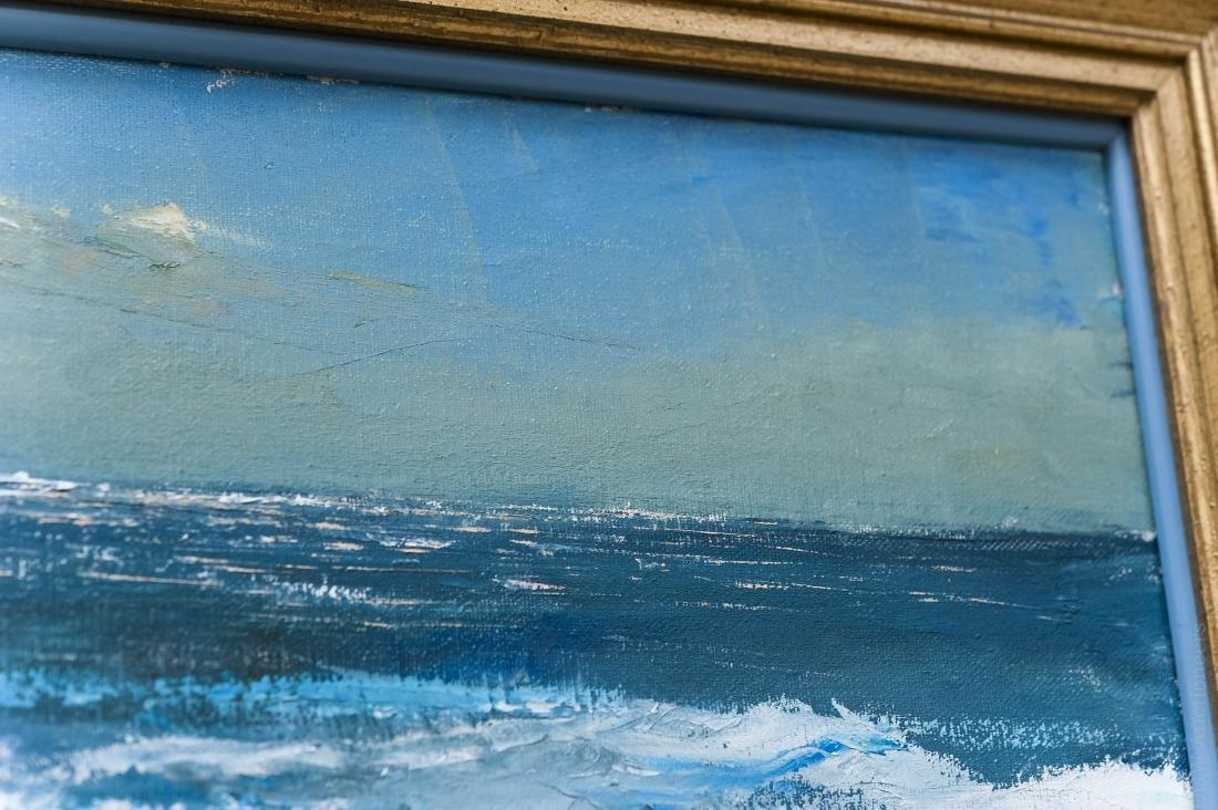 Peter Hayward Oil on Canvas, Seascape. - 4
