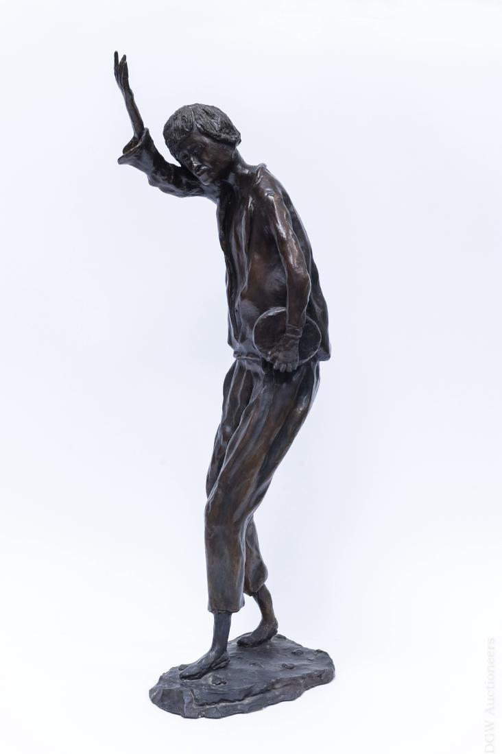 Victor Bergeron Bronze Sculpture of a Man.