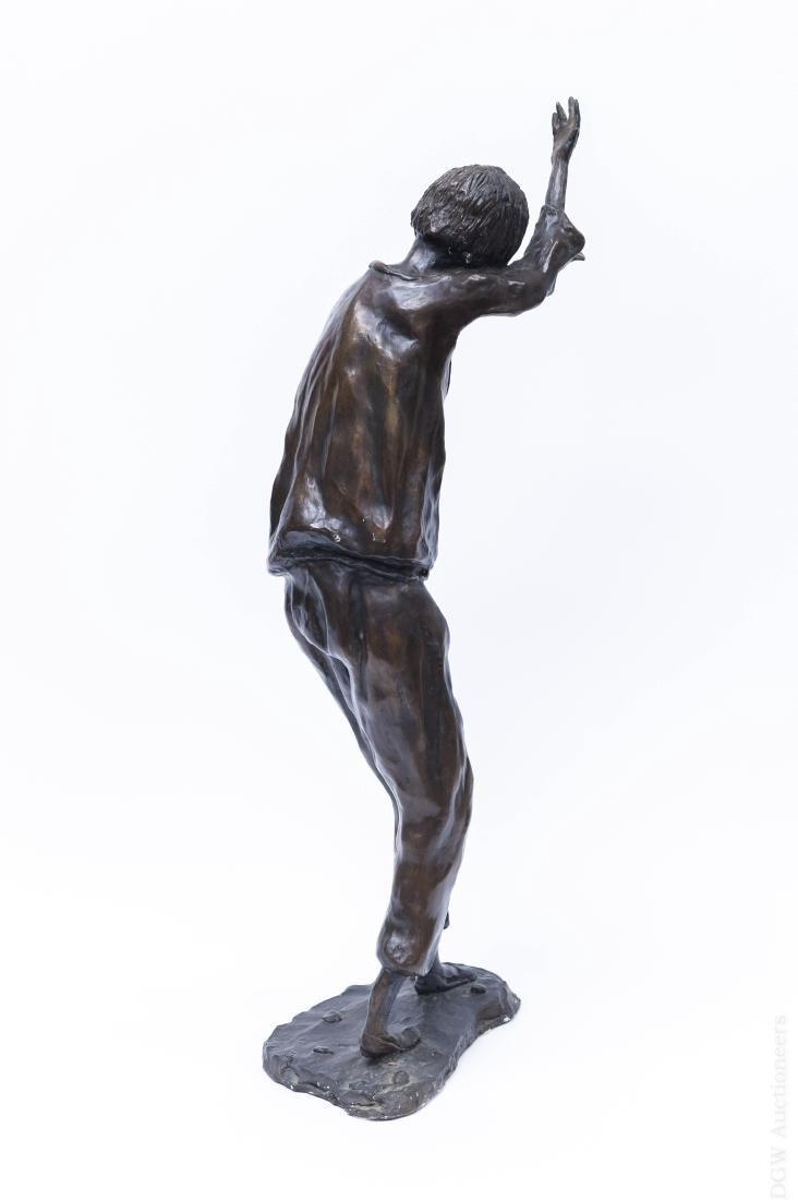 Victor Bergeron Bronze Sculpture of a Man. - 2