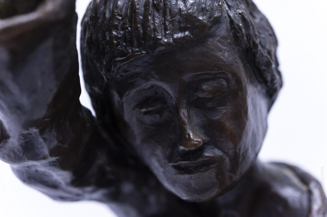 Victor Bergeron Bronze Sculpture of a Man. - 4