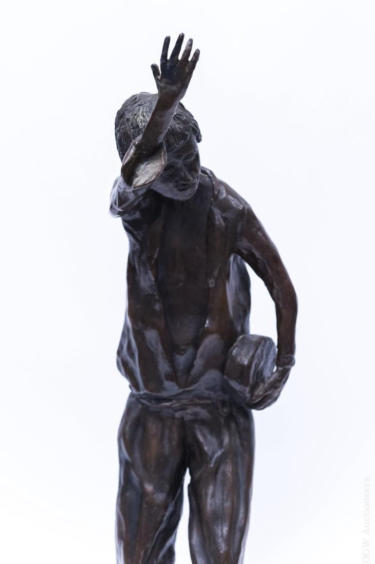 Victor Bergeron Bronze Sculpture of a Man. - 5