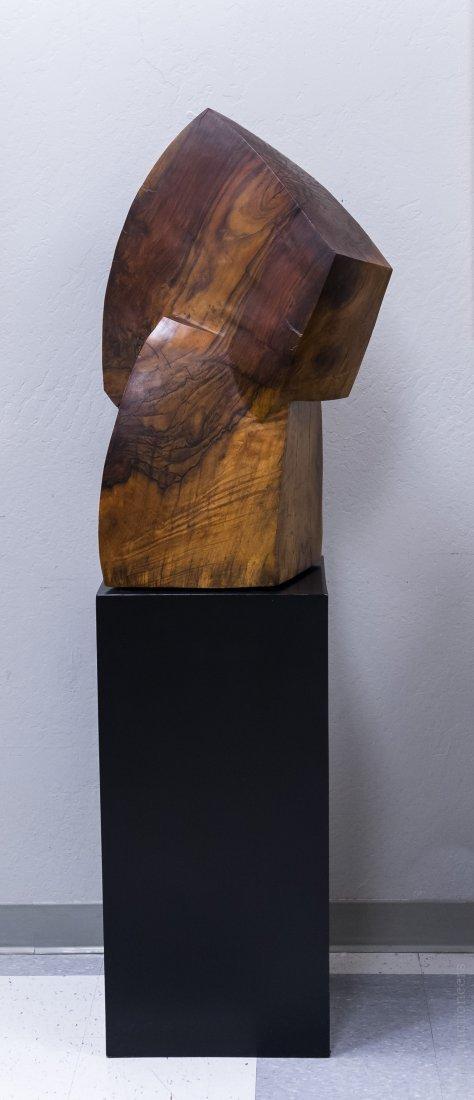 Melvin Schuler Carved Walnut Sculpture.
