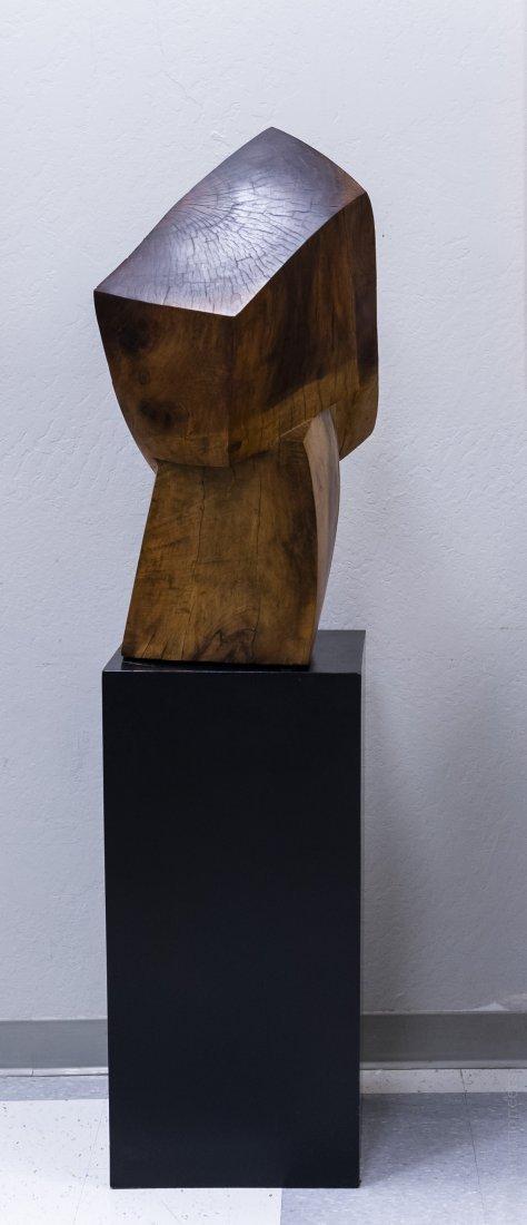 Melvin Schuler Carved Walnut Sculpture. - 2