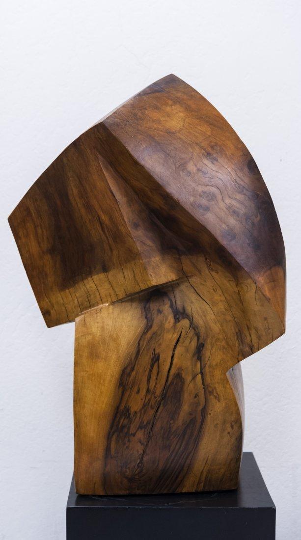 Melvin Schuler Carved Walnut Sculpture. - 3