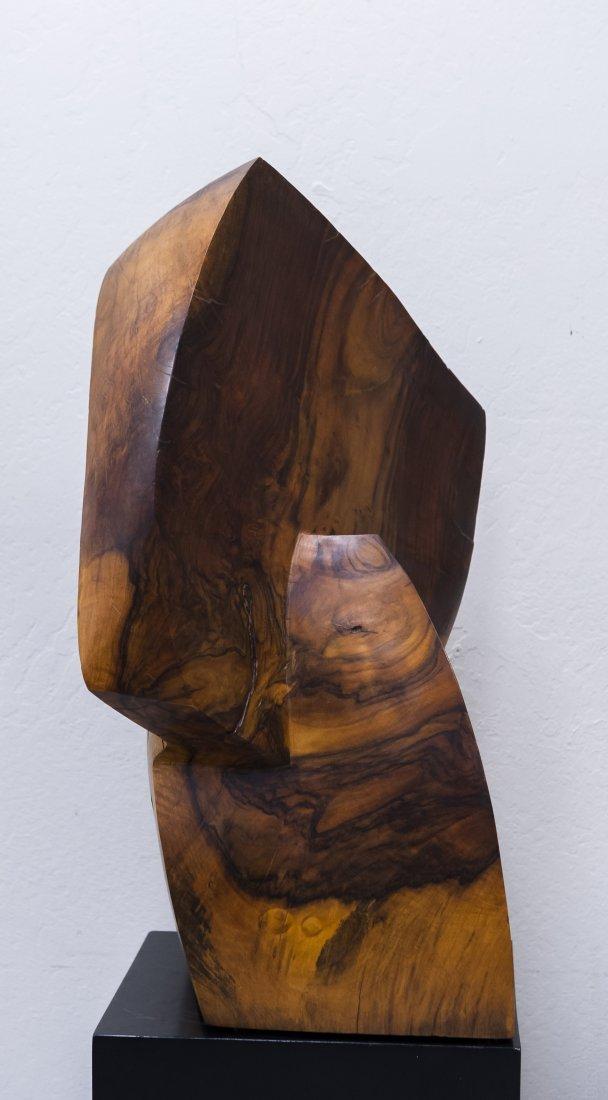 Melvin Schuler Carved Walnut Sculpture. - 4