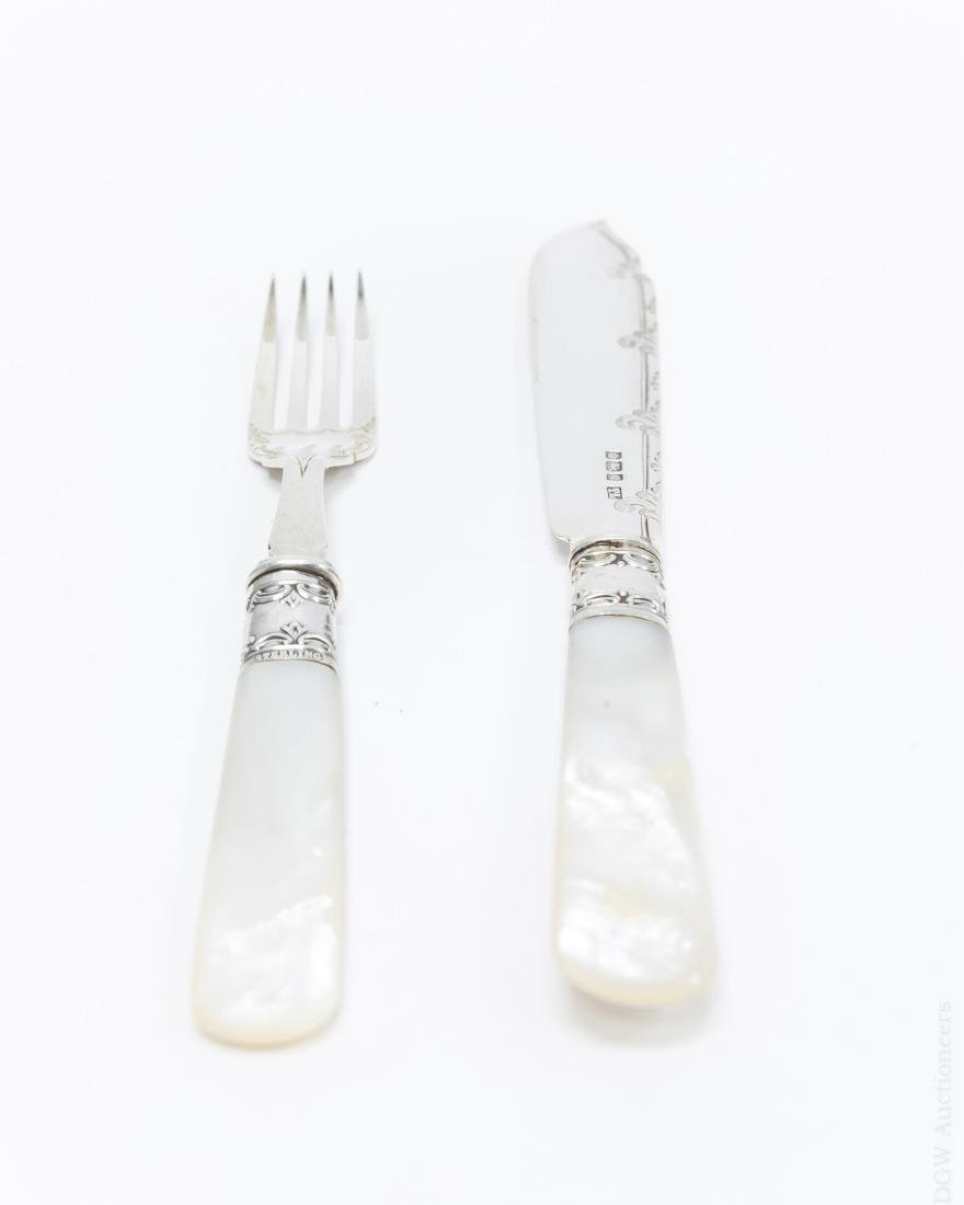 English Sterling Silver Knife and Fork Service. - 5