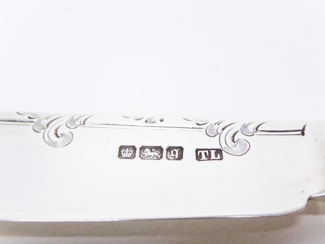 English Sterling Silver Knife and Fork Service. - 7