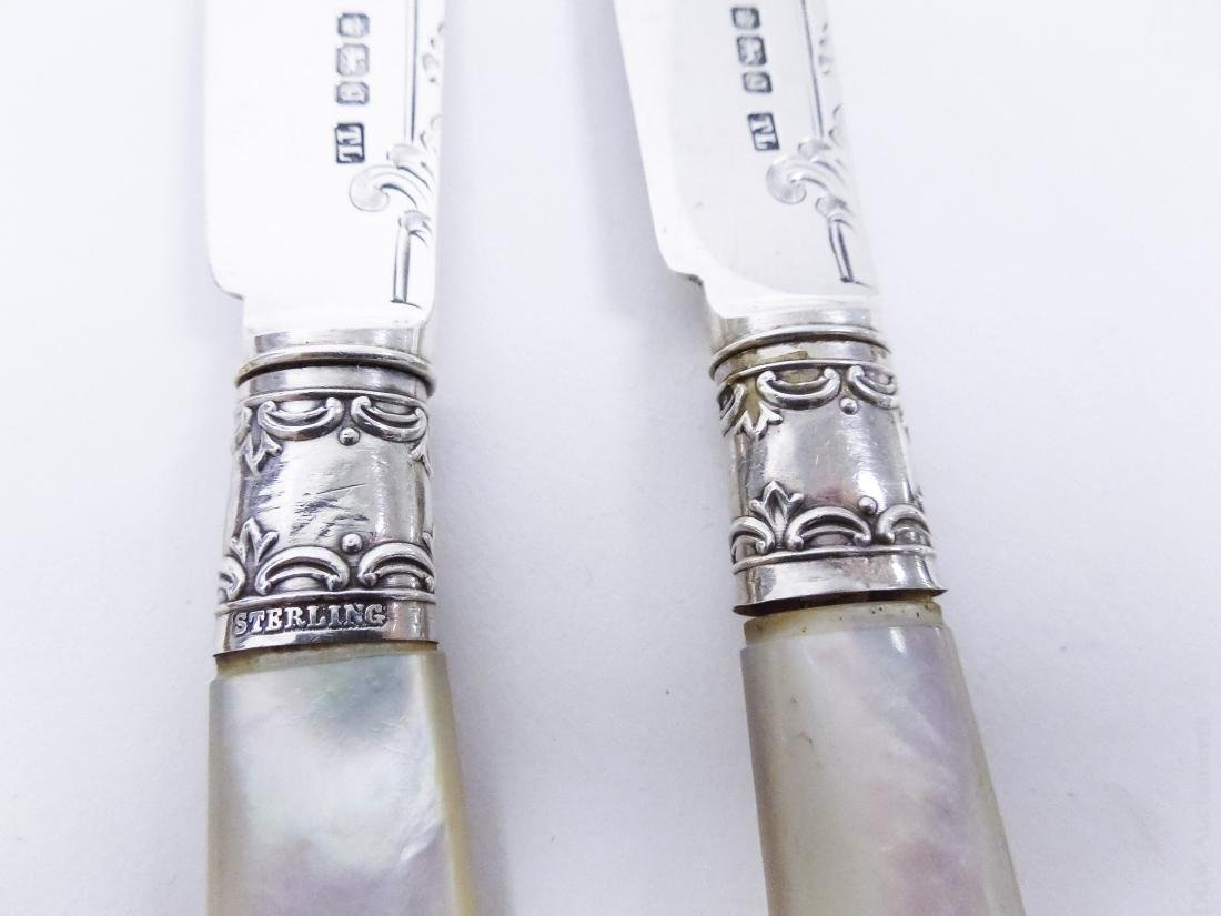English Sterling Silver Knife and Fork Service. - 8