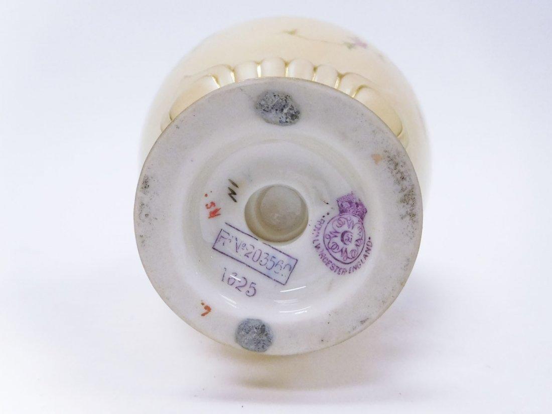 (3) 19th C. Royal Worcester Porcelain Vases. - 4