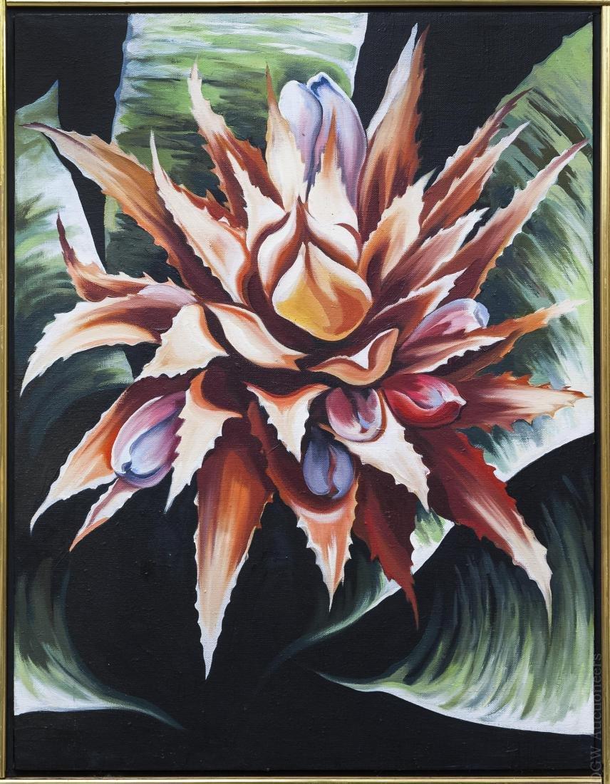 Lowell Nesbitt Oil on Canvas.