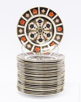 (26) Royal Crown Derby 1128 Salad Plates.