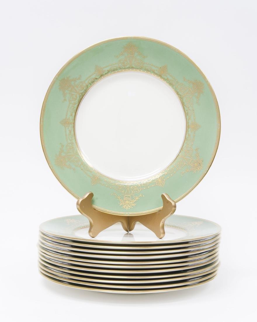 (12) Royal Worcester Porcelain Dinner Plates.