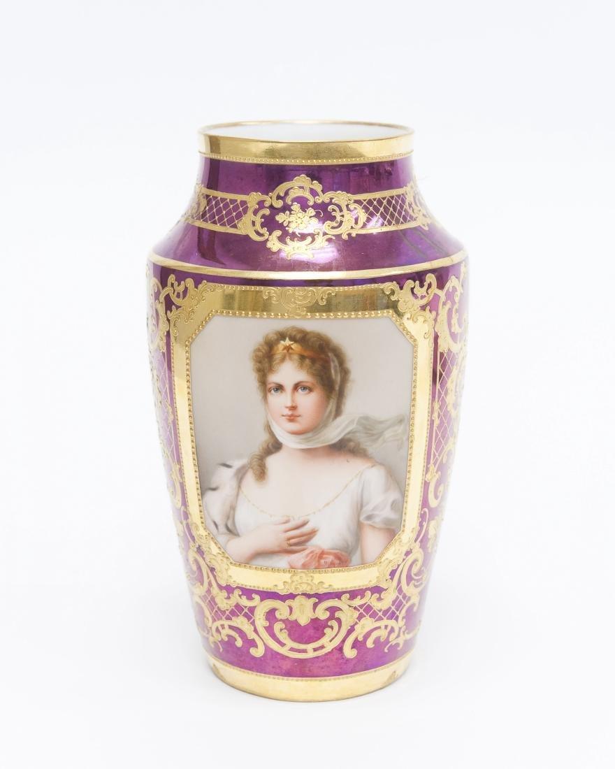Dresden Queen Louise Porcelain Vase.