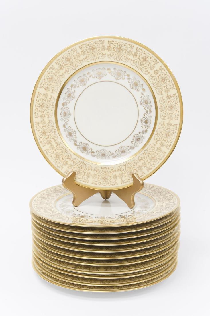 (12) Heinrich & Co. Pickard Dinner Plates.