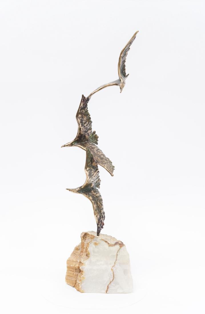 C. Jere Birds in Flight Sculpture.