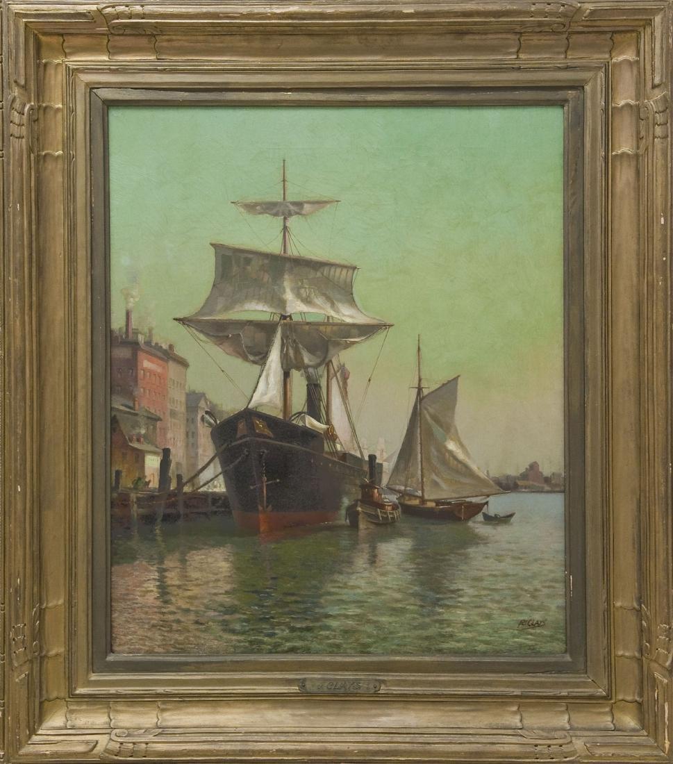 Paul Jean Clays Oil on Canvas.