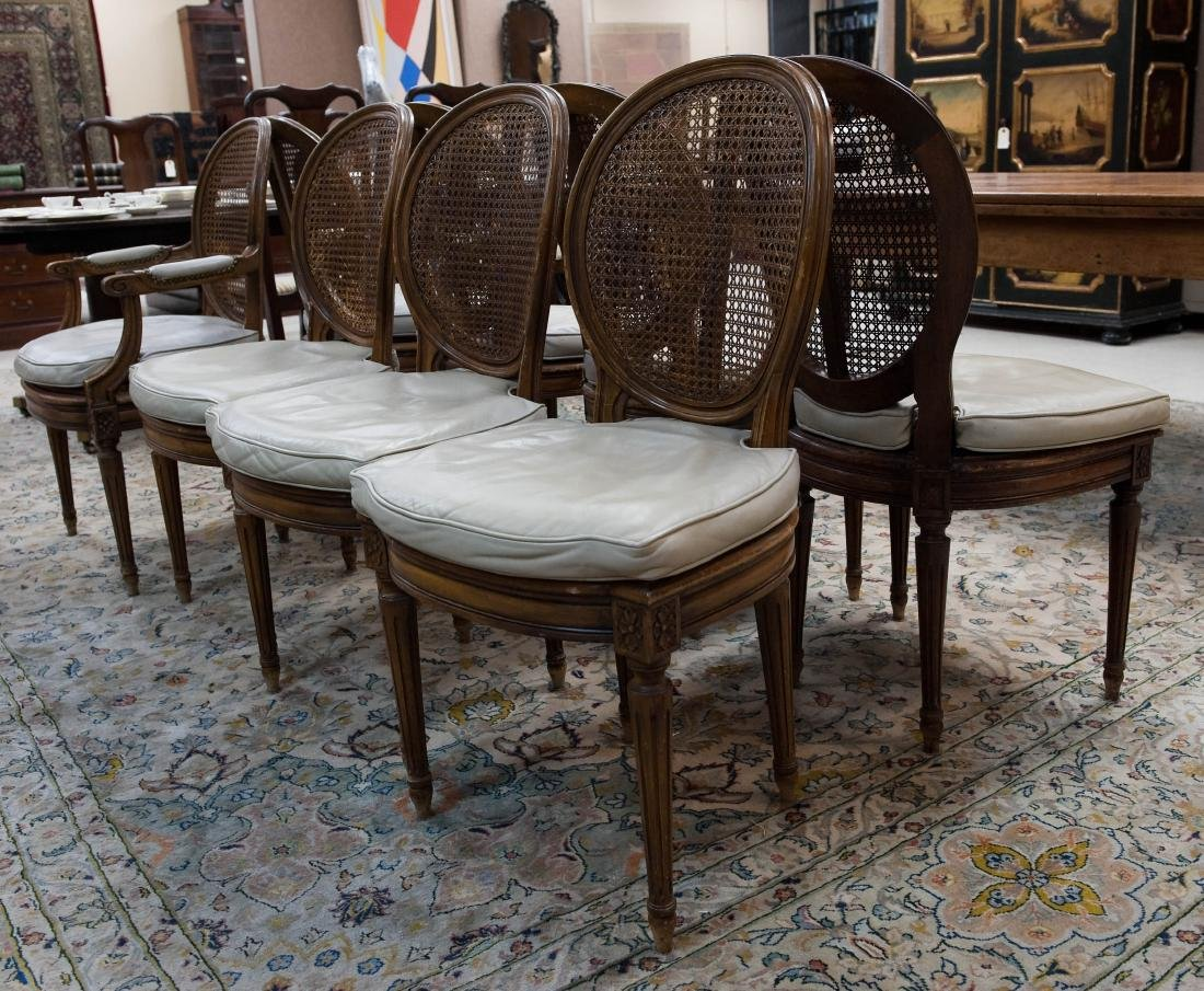 of 8 Louis XVI Style Dining Chairs.