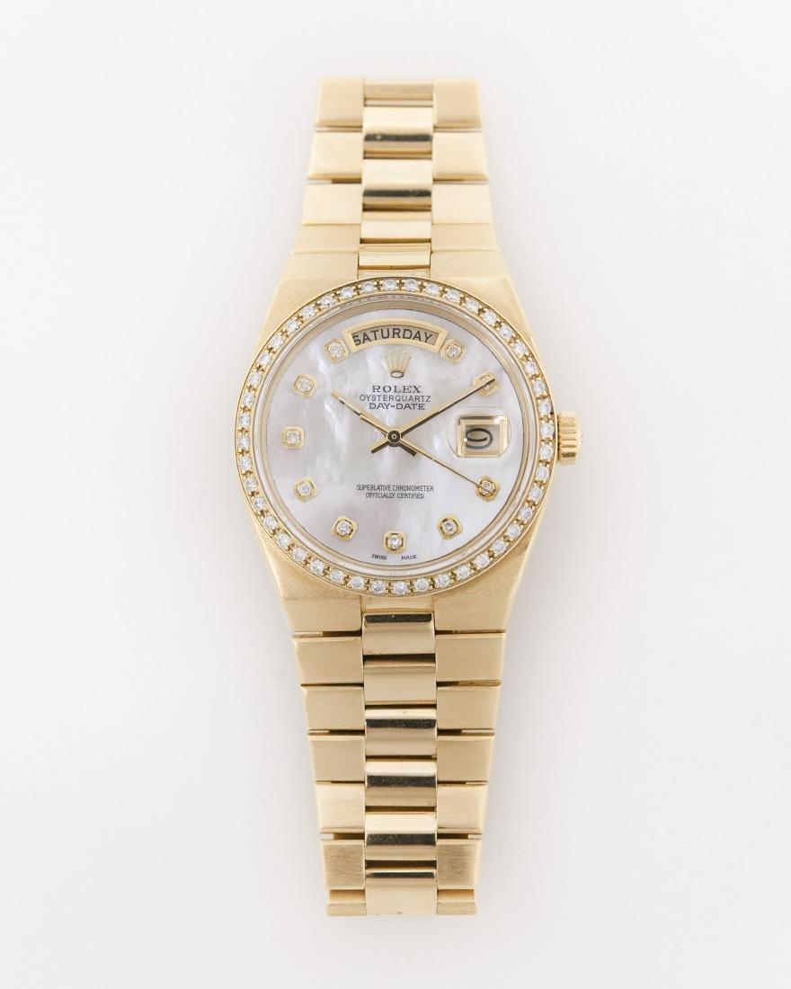 Rolex 18k Gold Oysterquartz President Day-Date