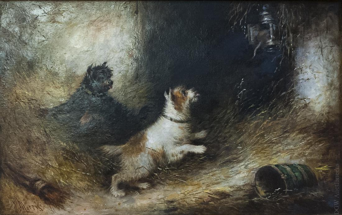 J. Morris Oil on Canvas, The Impertinent Thief.