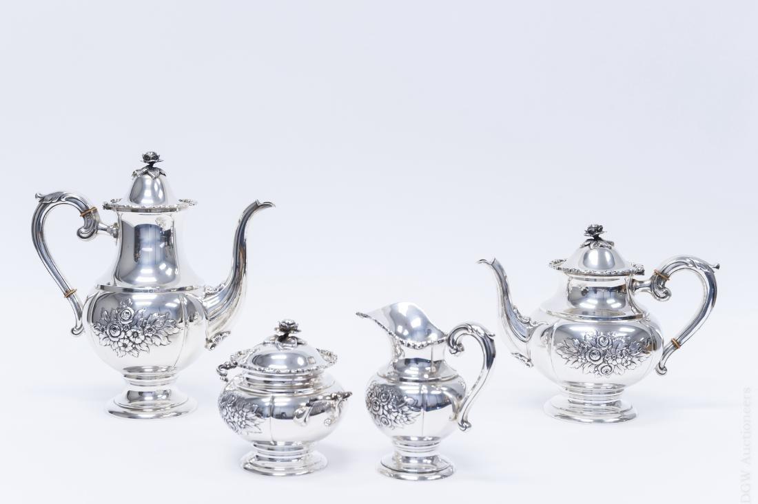 German Sterling Silver Coffee & Tea Set.