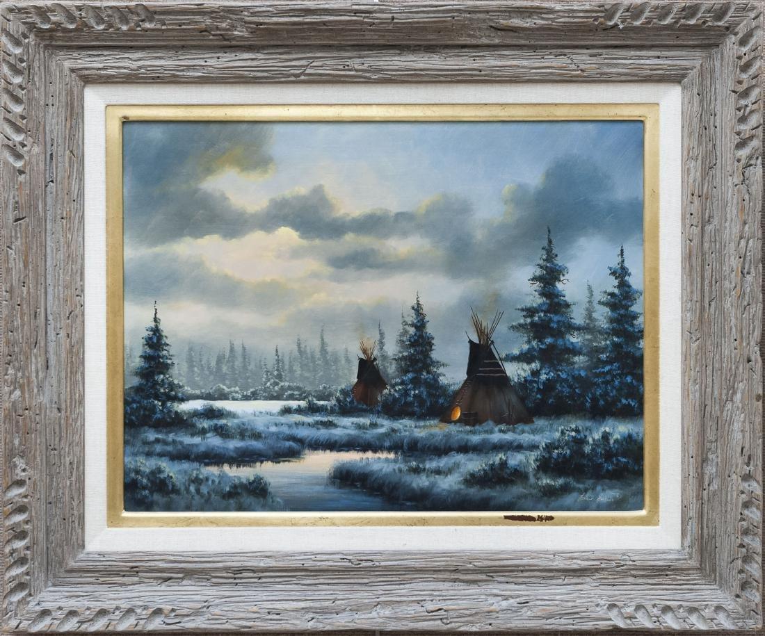 Heinie Hartwig Oil on Canvas, Winter Evening.