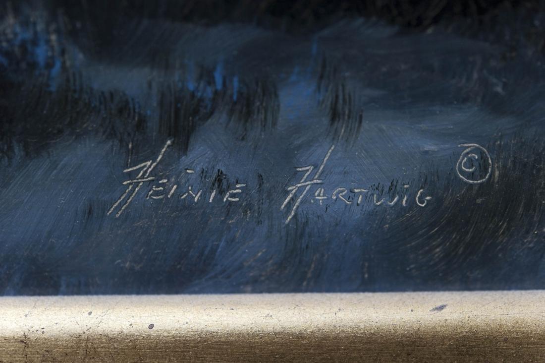 Heinie Hartwig Oil on Canvas, Winter Evening. - 2