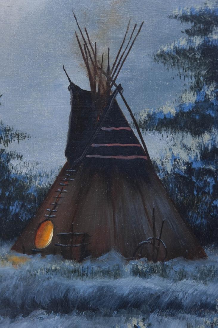 Heinie Hartwig Oil on Canvas, Winter Evening. - 3