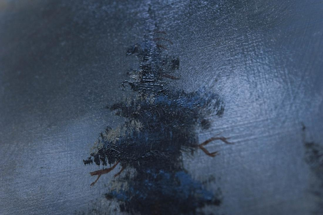Heinie Hartwig Oil on Canvas, Winter Evening. - 5