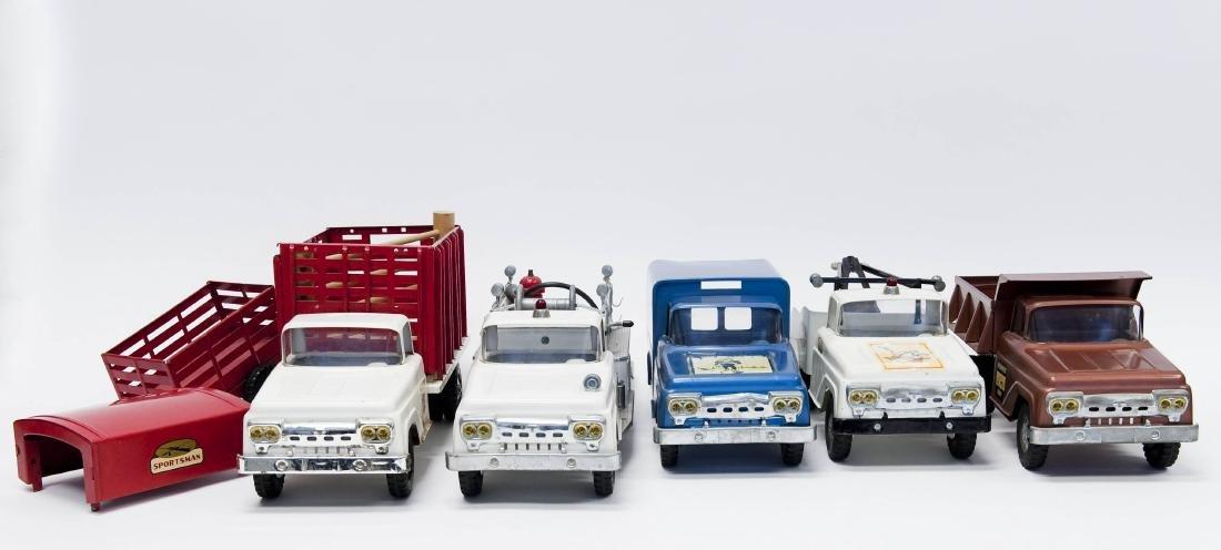 (5) Vintage Tonka Metal Trucks.