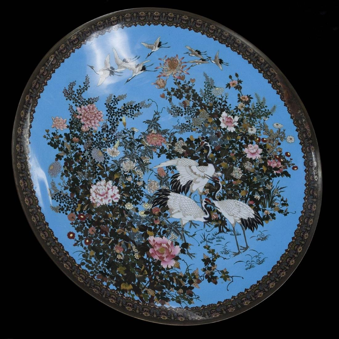 Meiji Period Japanese Cloisonne Charger.
