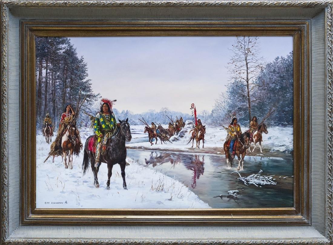 Hubert Wackermann Oil on Canvas.