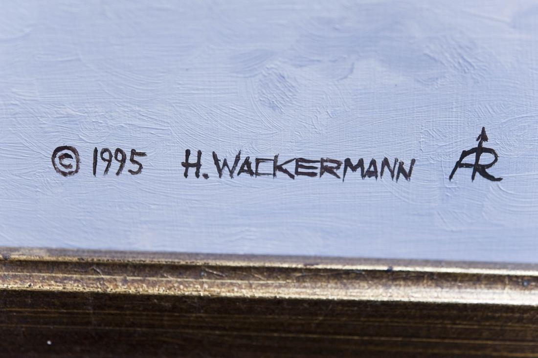 Hubert Wackermann Oil on Canvas. - 2