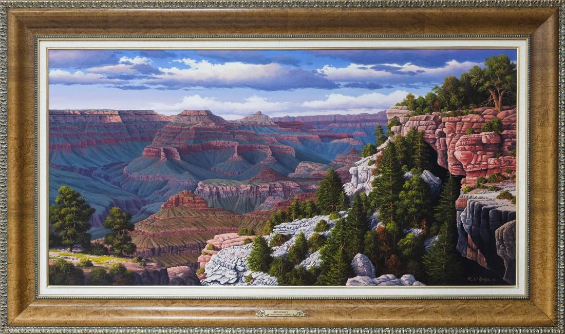 Ronnie Hedge Oil on Canvas, Sanctuary Grand Canyon.