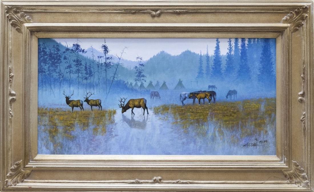 Randy Keedah Oil on Canvas, Neighbors.