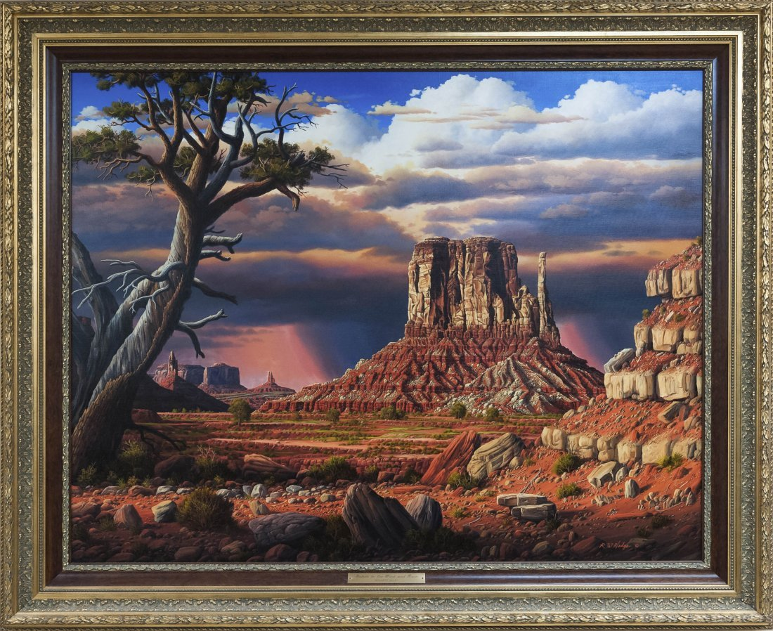 Ronnie Hedge Oil on Canvas, Tribute to the Wind and