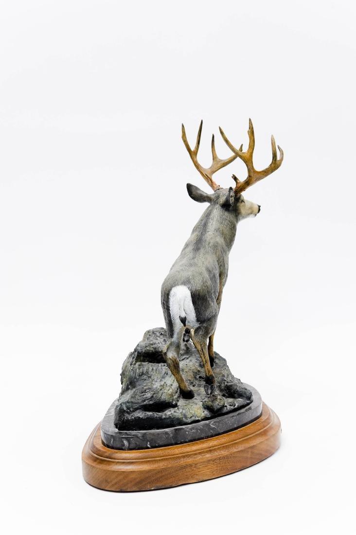 Karl Lansing Bronze Sculpture, Mule Deer. - 3