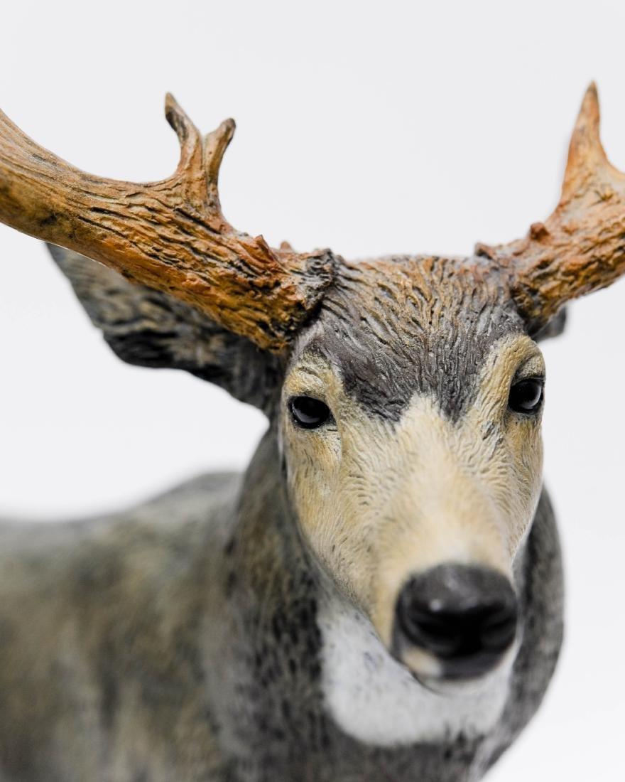 Karl Lansing Bronze Sculpture, Mule Deer. - 6