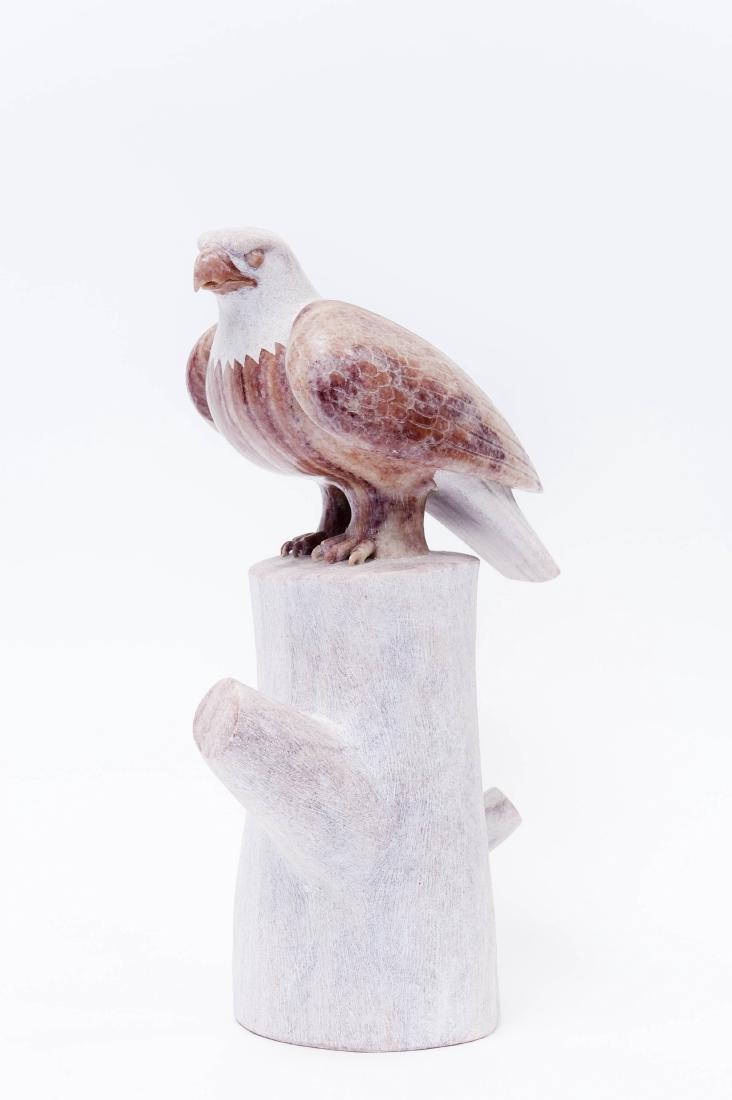 Rick Nez Stone Sculpture, Eagle.