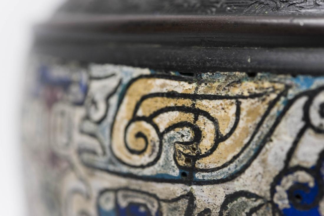 Japanese Meiji Period Bronze Vase. - 5