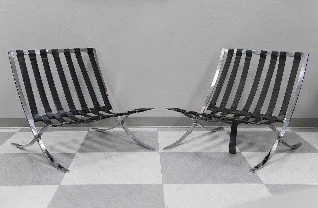 Pair of Industria Argentina Barcelona Chairs.
