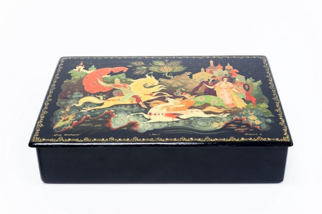 Manachev Kholui Russian Lacquer Box.
