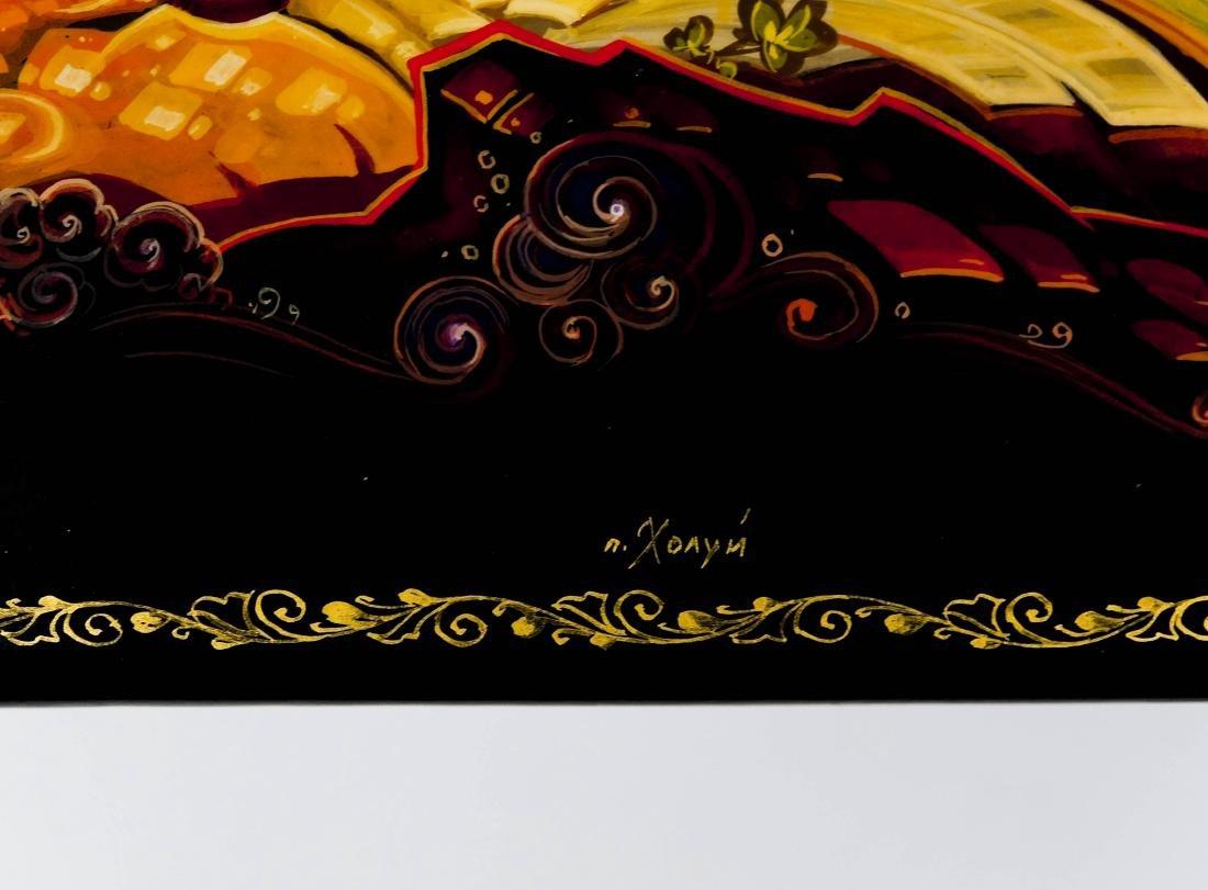 Vetrov Kholui Russian Lacquer Box. - 5